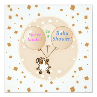 Little Lamb Baby Shower invitations template