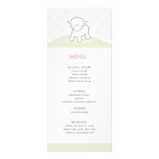 Little Lamb Baby Shower Menu Custom Rack Card