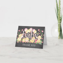 Little Lamb Baby Shower Thank You Note