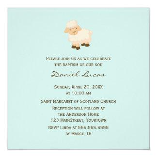 Little Lamb Baptism Card