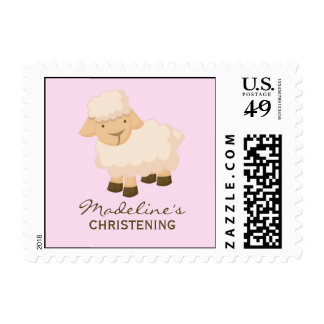 Little Lamb Baptism Postage