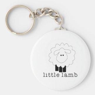 Little Lamb Basic Round Button Keychain