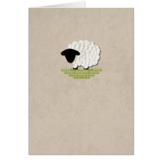 Little Lamb Blank Note Card (5 Color Options)