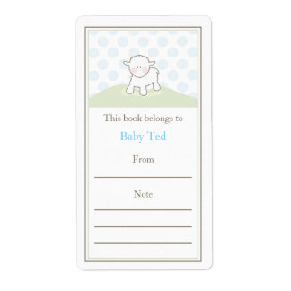 Little Lamb Bookplate Personalized Shipping Labels