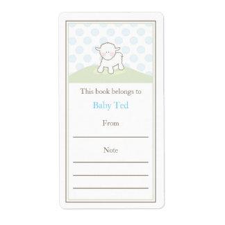 Little Lamb Bookplate Label