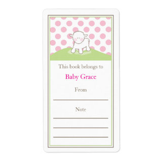 Little Lamb Bookplate Custom Shipping Label