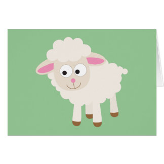 Little lamb stationery note card