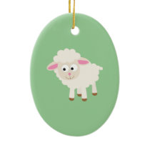 Little lamb ceramic ornament