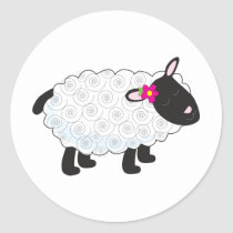 Little Lamb Classic Round Sticker