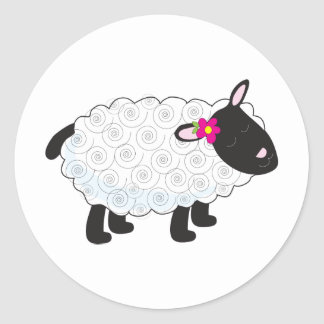 Little Lamb Classic Round Sticker