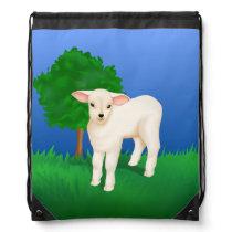 Little lamb drawstring backpack