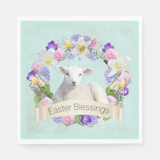 Easter lamb gifts on zazzle little lamb easter paper napkins negle Images