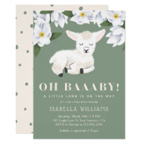 Little Lamb Gender Neutral Baby Shower Invitation