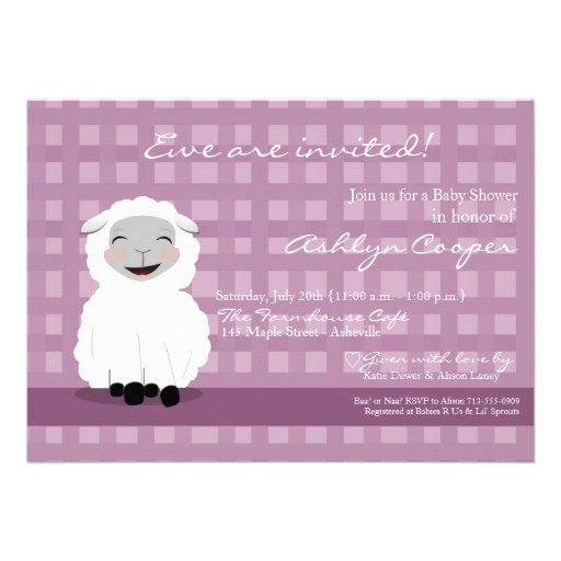 personalized little lamb baby shower invitations custominvitations4u