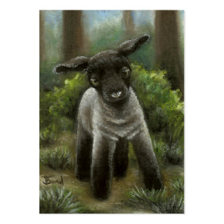 Little lamb in the woods ACEO prints Large Business Card