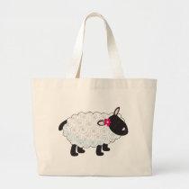 Little Lamb Large Tote Bag