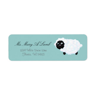"""Little Lamb"" Personalized Return Address Labels"