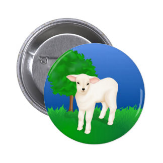 Little Lamb Pinback Button