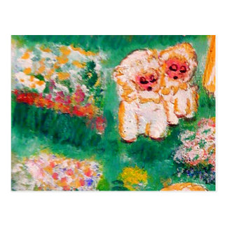 Little Lamb Playing in the Flowers Postcard