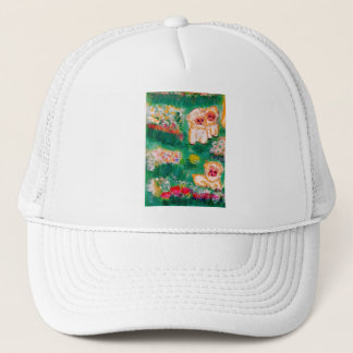 Little Lamb Playing in the Flowers Trucker Hat