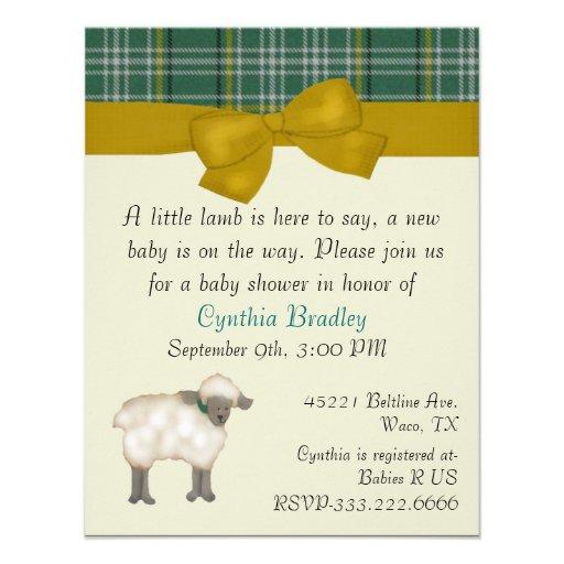 little lamb sweet baby shower invitation x 5 5 invitation ca