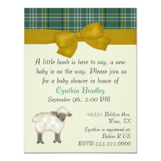 Little Lamb Sweet baby shower invitation