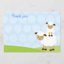 Little Lamb Thank You Cards