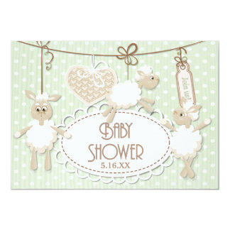 Little Lamb Toys Baby Shower Card