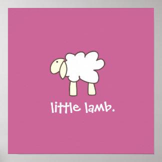 Little Lamb wall print (rose)