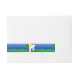 Little Lamb Wrap Around Address Label