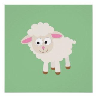 Little lamb perfect poster