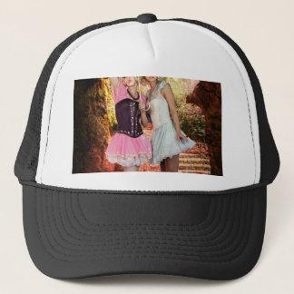 LITTLE LAMBS ~ SHELTER IN SPRING RAIN.jpg Trucker Hat