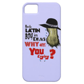 Little Latin Boy in Drag, Why Are You Crying? iPhone 5 Case