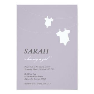 {little laundry} 5x7 paper invitation card