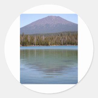 Little Lava Lake & Volcano Classic Round Sticker