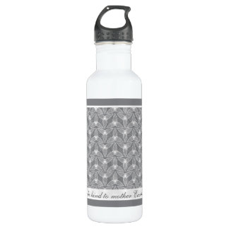 Little Leaf - Grey Stainless Steel Water Bottle