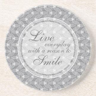 Little Leaf Inspirational Coaster - Grey