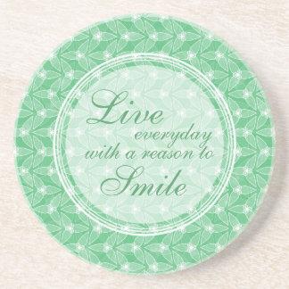 Little Leaf Inspirational Coaster - Mint