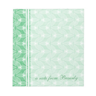 Little Leaf Personalized Notepad - Mint