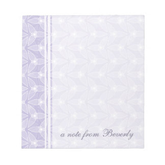 Little Leaf Personalized Notepad - Periwinkle