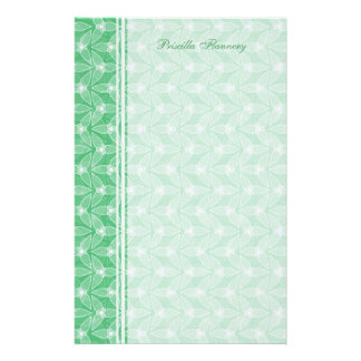 Little Leaf Personalized Stationery - Mint