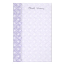 Little Leaf Personalized Stationery - Periwinkle