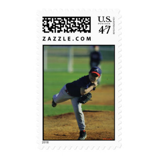 Little League Ballplayer Postage Stamp