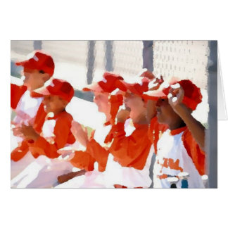 Little League Greeting Card 2
