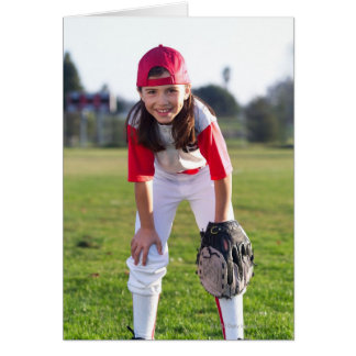 Little league player greeting card