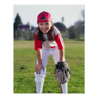 Little league player poster