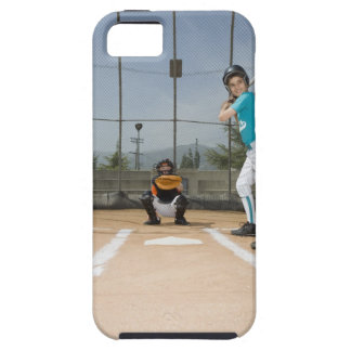 Little league player up to bat iPhone 5 covers