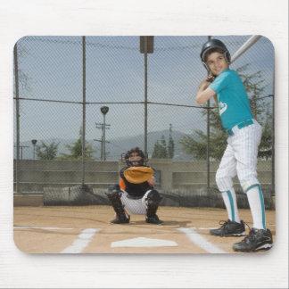 Little league player up to bat mouse pad