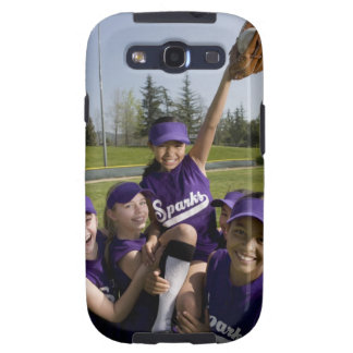 Little league players carrying teammate samsung galaxy SIII case