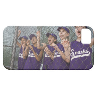 Little league team cheering in dugout iPhone 5 cover